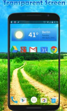 Transparent Screen Live Wallpaper & Launcher screenshot 1