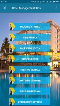 Hotel Management Tips apk screenshot