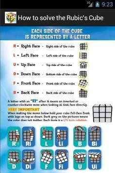 FREE Rubik's Cube steps. apk screenshot