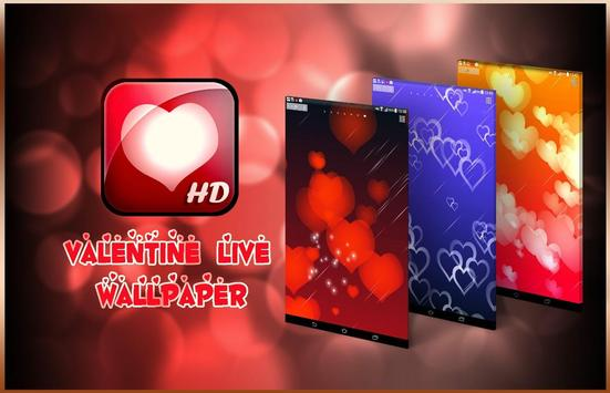 Valentine's Day Hearts Live Wallpaper poster