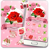 Valentines Day Red Rose Theme icon