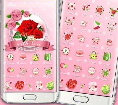Valentines Day Red Rose Theme screenshot 4