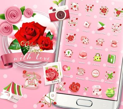 Valentines Day Red Rose Theme screenshot 1