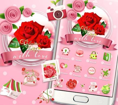 Valentines Day Red Rose Theme screenshot 2