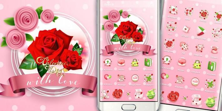 Valentines Day Red Rose Theme screenshot 3