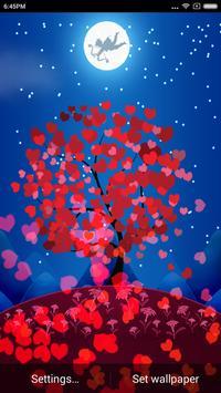 Valentine Heart Tree Wallpaper apk screenshot
