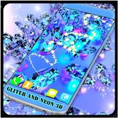 Wallpaper HD Of Neon Gliter 3D icon