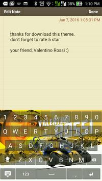 Valentino Rossi Keyboard Theme apk screenshot