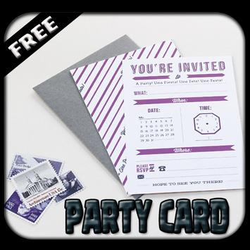 Party Card Invitation poster