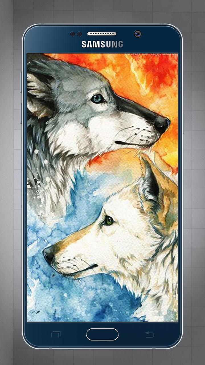 Wallpapers And Lock Screen Ice Fire Wolf Full Hd Für Android