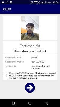 VLCC Testimonial apk screenshot