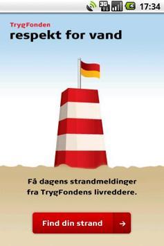 Strandvejr fra Trygfonden poster