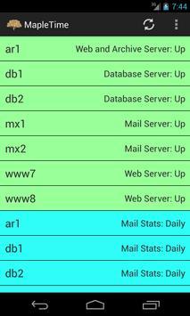 MapleTime Server Status screenshot 1