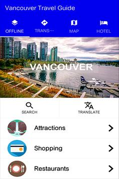 Vancouver Travel Guide poster