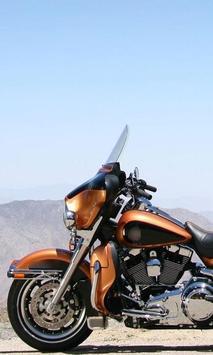 Wallpaper with HarleyRoadKing screenshot 1