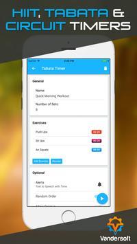 Interval Timer - Tabata & HIIT Workout Stopwatch apk screenshot