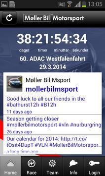 Møller Bil Motorsport poster