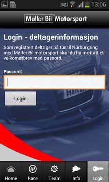Møller Bil Motorsport apk screenshot