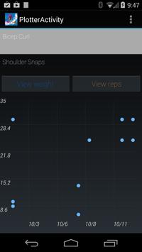 Weight Training Log apk screenshot