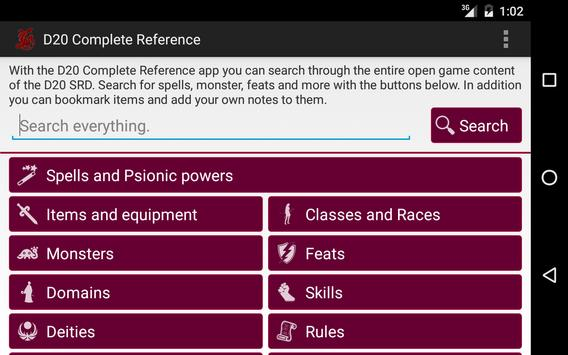 D20 Complete Reference for DnD apk screenshot