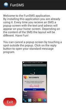 fun SMS Popup (FREE) apk screenshot