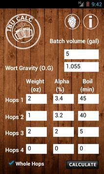 IBU Calc- Hops Calculator poster