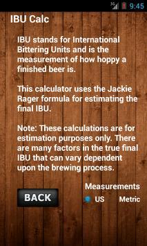 IBU Calc- Hops Calculator screenshot 3