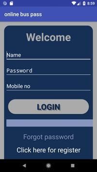 Online Buss Pass System screenshot 1