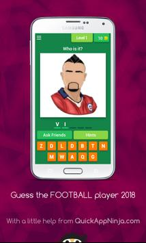 Guess FOOTBALL player 2018 poster