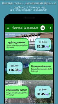 Coimbatore Dams Water Level poster