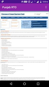 Punjab RTO Details apk screenshot