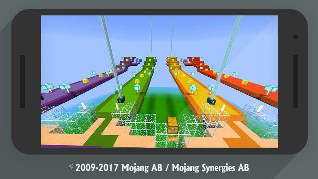 Lucky Block Race MCPE addon multiplayer screenshot 1