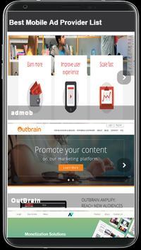 Mobile Ad Provider 2018 screenshot 2