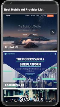 Mobile Ad Provider 2018 screenshot 3