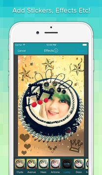 Photo On Birthday Cake apk screenshot