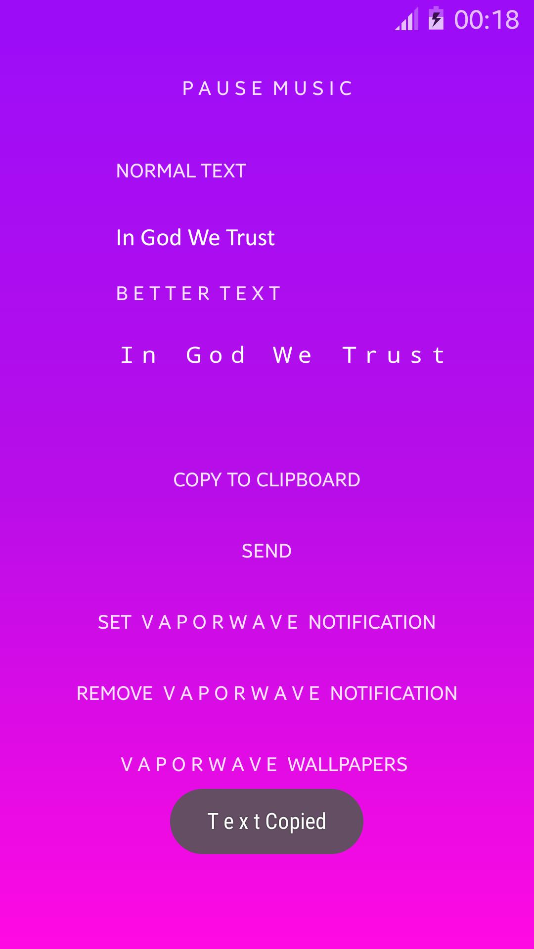vaporwave & aesthetic- Wide Text Generator for