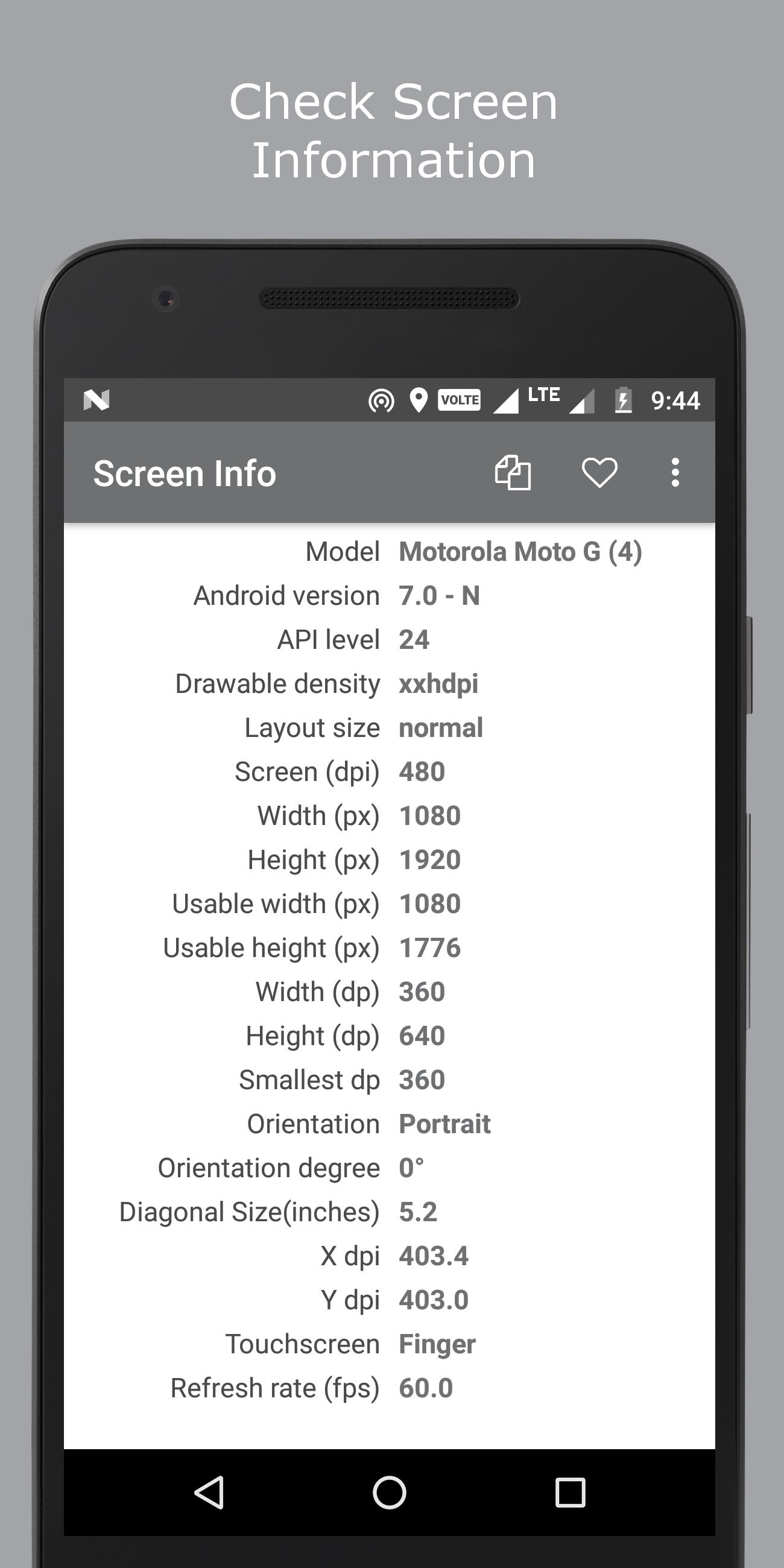 Screen Size / Info / Dpi for Android - APK Download