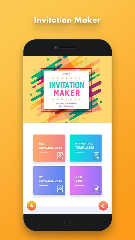 Invitation card maker for android apk download invitation card maker poster stopboris Choice Image