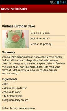 Resep Variasi Cake screenshot 3