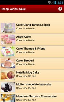 Resep Variasi Cake screenshot 2
