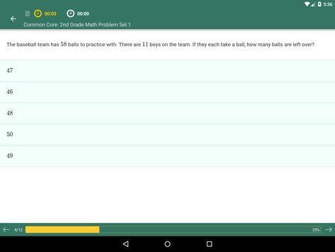 Common Core Math 2nd Grade: Practice Tests, Prep apk screenshot