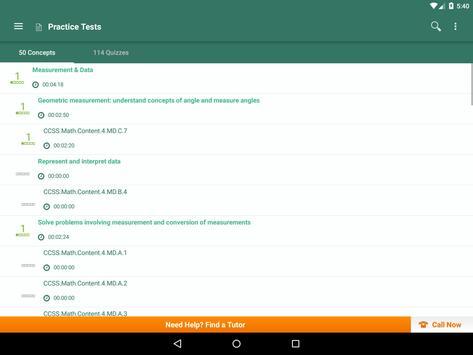 Common Core Math 4th Grade: Practice Tests, Prep apk screenshot