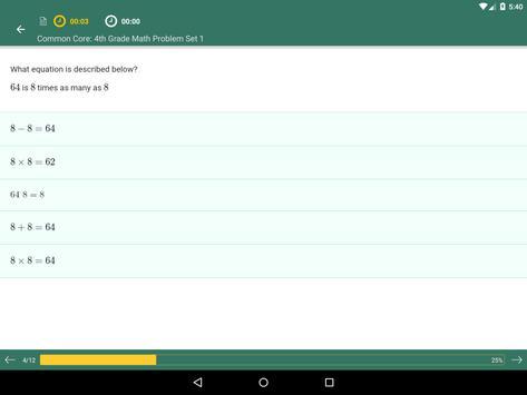 Common Core Math 4th Grade apk screenshot