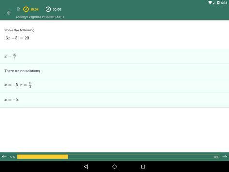 College Algebra Practice, Prep apk screenshot