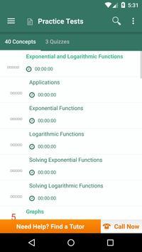 College Algebra: Practice Tests and Flashcards apk screenshot