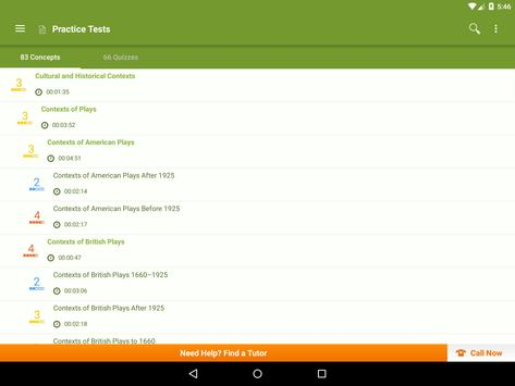 GRE Literature in English Prep apk screenshot