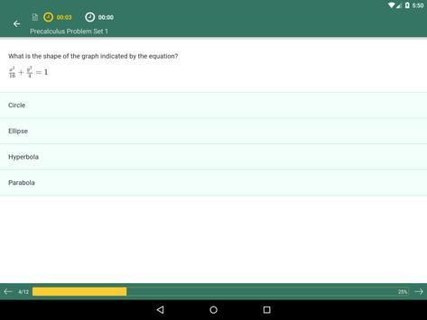 Pre-Calculus Prep: Practice Tests and Flashcards apk screenshot