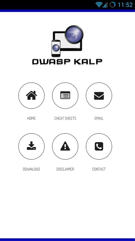 Owasp Internet Of Things Project: OWASP KALP Mobile Project For Android