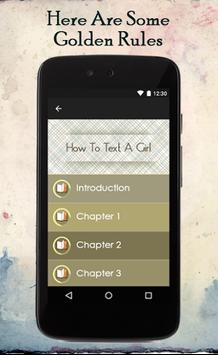 How To Text A Girl apk screenshot