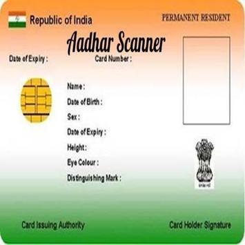 Aadhaar card Scanner poster